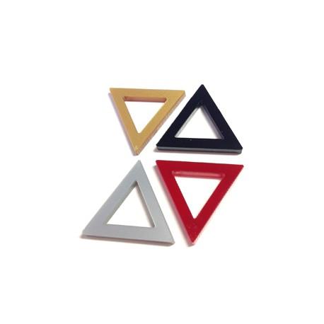 Plexi Acrylic Pendant Triangle Frame 21x24mm