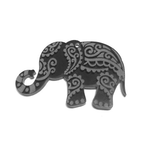 Ciondolo in Plexiacrilico Elefante Indiano 60x37mm (spess.3mm)