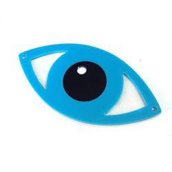 Πλέξι Ακρυλικό Στοιχείο Μάτι με 2 Τρύπες 80x40mm
