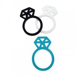 Plexi Acrylic Finger Ring Diamond 22mm