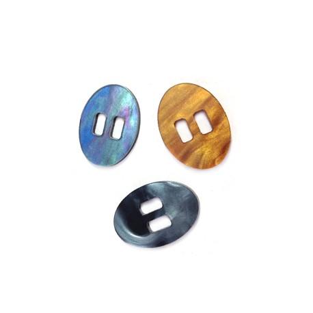 Passant Bouton Ovale en Plexiacrylique 14x20mm (Ø 5x2,6mm)