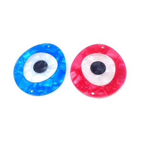 Intercalaire en Plexiacrylique avec œil 40x36mm (Ø 1,7mm)