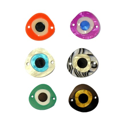 Πλέξι Ακρυλικό Στοιχείο Μάτι για Μακραμέ 22x21mm (Ø1.7mm)