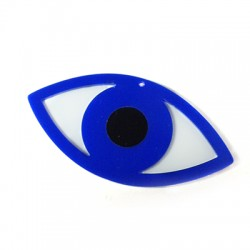 Πλέξι Ακρυλικό Μοτίφ Μάτι 80x40mm