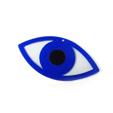 Ciondolo in Plexiacrilico Occhio Turco 80x40mm (spess.3mm)