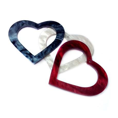Πλέξι Ακρυλικό Μοτίφ Καρδιά 55x50mm