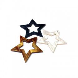Plexy Acrylic Pendant Star 40mm