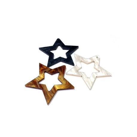 Πλέξι Ακρυλικό Μοτίφ Αστέρι 40mm