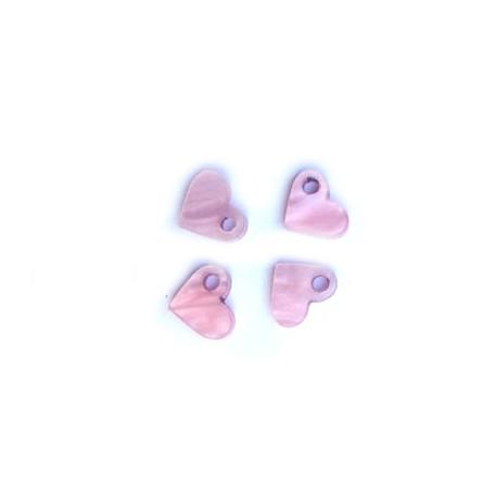 Plexi Acrylic Charm Heart 9x8mm