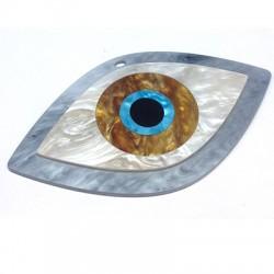 Ciondolo in Plexiacrilico Occhio Turco 120x66mm