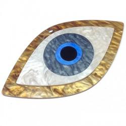 Ciondolo in Plexiacrilico Occhio Turco 130x72mm