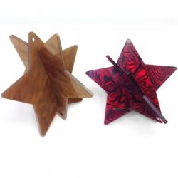 Plexi Acrylic Pendant Star 3D 73mm