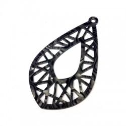 Plexi Acrylic Pendant Drop 40x65mm