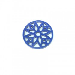 Pendentif Rond avec Dessins en Plexiacrylique 24mm
