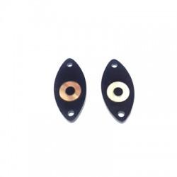 Intercalaire Ovale en Plexiacrylique avec œil 25x11mm