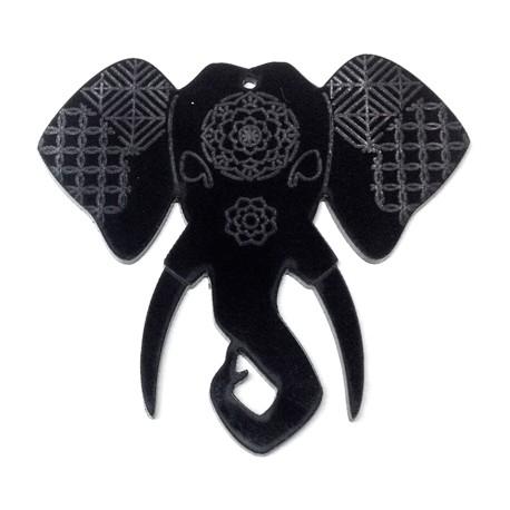 Ciondolo in Plexiacrilico Elefante 57x53mm