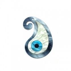 Ciondolo in Plexiacrilico Goccia con Occhio Turco 35x21mm
