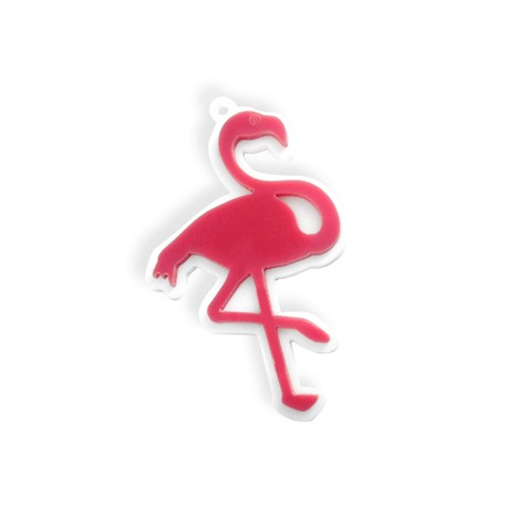 Plexi Acrylic Pendant Flamingo 63x40mm