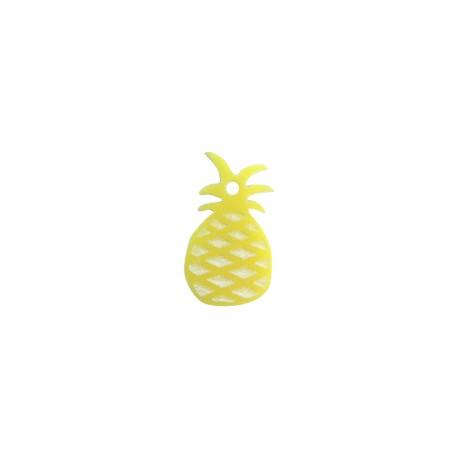 Plexi Acrylic Charm Pineapple 20x12mm