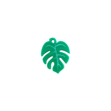 Plexi Acrylic Charm Exotic Leaf 18x20mm