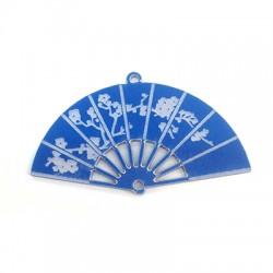 Plexi Acrylic Pendant Asian Style Hand Fan 30mm