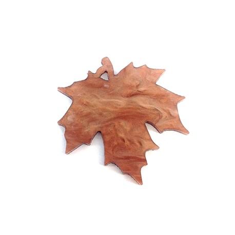 Plexi Acrylic Pendant Leaf 40x39mm