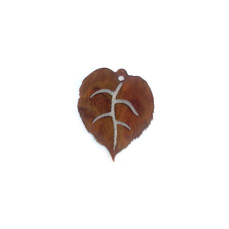 Plexi Acrylic Pendant Leaf 30mm