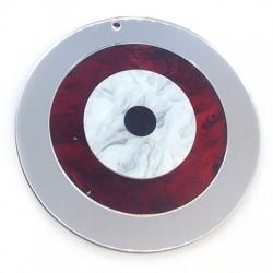 Pendentif rond en Plexiacrylique avec œil porte-bonheur 89mm
