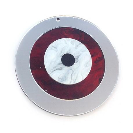 Ciondolo in Plexiacrilico Rotondo con Occhio Portafortuna 89mm