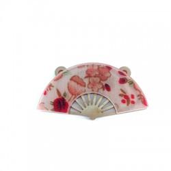 Plexi Acrylic Pendant Asian Style Hand Fan 49x27mm