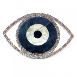 Ciondolo in Plexiacrilico Occhio Portafortuna 79x54mm