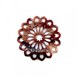 Plexi Acrylic Pendant Flower Filigree 49mm