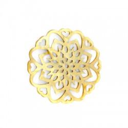 Plexi Acrylic Pendant Filigree Flowers 49mm
