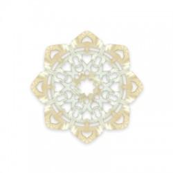 Πλέξι Ακρυλικό Μοτίφ Λουλούδι Φιλιγκρί 59mm