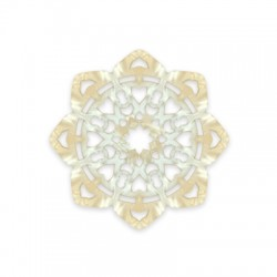 Plexi Acrylic Pendant Flower Filigree 59mm