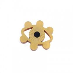 Πλέξι Ακρυλικό Στοιχείο Μάτι για Μακραμέ 24x25mm