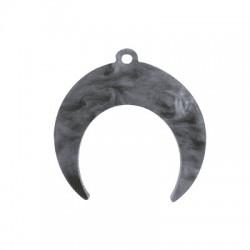 Plexi Acrylic Charm Double Horn 40x36mm