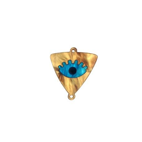 Plexi Acrylic Triangle Connector Eye 30x32mm