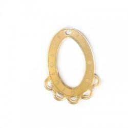 Pendentif ovale en plexiacrylique 33x45mm avec anneaux