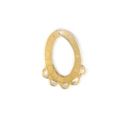 Plexi Acrylic Oval Pendant 33x45mm