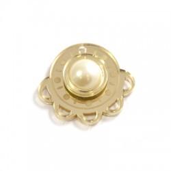 Plexi Acrylic Pendant with pearl 44x39mm