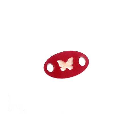 Connettore in Plexiacrilico Ovale con Farfalla 15x9mm