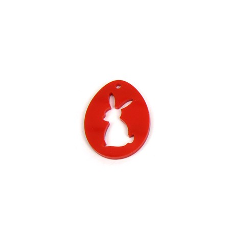 Plexi Acrylic Pendant Easter Egg 40x31mm