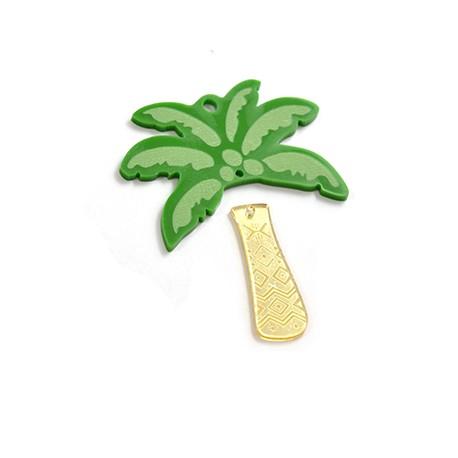 Plexi Acrylic Pendant Palm Tree 68x59mm