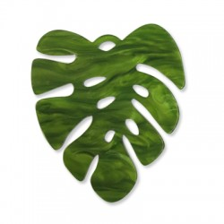 Plexi Acrylic Pendant Leaf 60x53mm