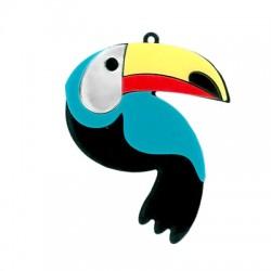 Pendentif toucan en Plexiacrylique 62x49mm
