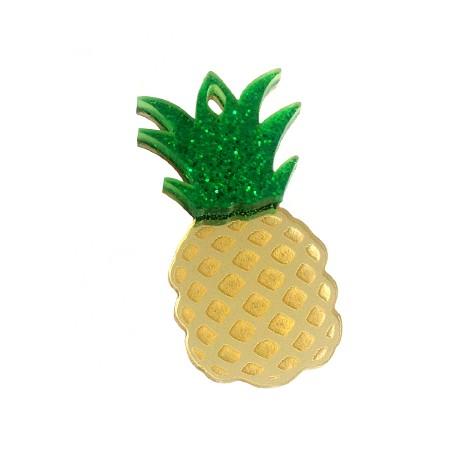 Plexi Acrylic Pendant Pineapple 48x25mm