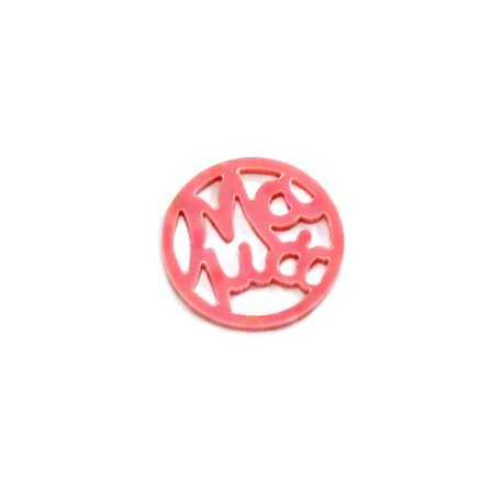 "Plexi Acrylic Round Pendant ""MAMA"" 25mm"