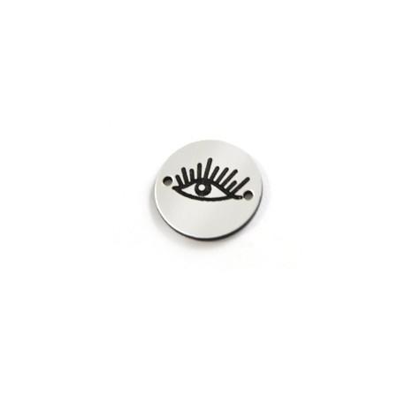 Plexi Acrylic Round Pendant  Eye 20mm