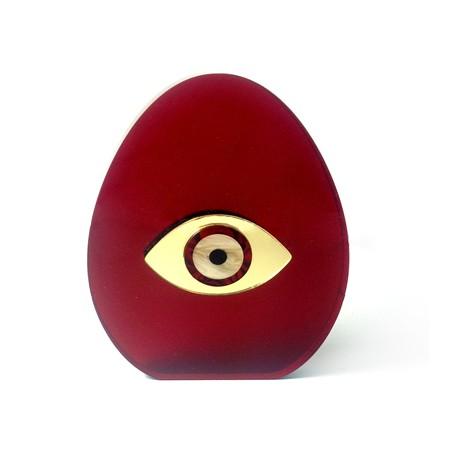 Plexi Acrylic Pendant Egg w/ Double Face Eye 114x90mm